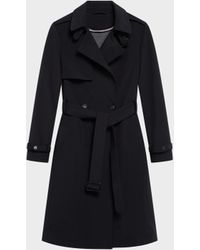 DKNY - Double Breasted Trench - Lyst