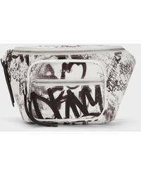 DKNY Abby Graffiti Belt Bag - White
