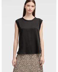 DKNY Cap-sleeve Top - Black