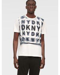 DKNY Spiral Faded Logo Tee - White
