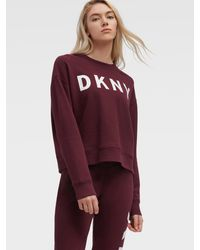 DKNY Cropped Logo Pullover - Red