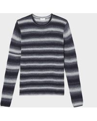 DKNY - Space Dye Striped Sweater - Lyst