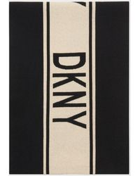 DKNY Classic Logo Scarf - Black