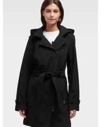 DKNY Soft-shell Trench Coat - Black