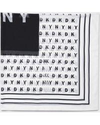 DKNY - Logo Square Scarf - Lyst