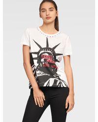 DKNY Studded Lady Liberty Tee - White