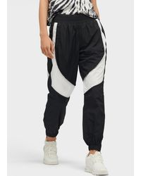 DKNY Relaxed Fit Colorblocked Track Pant - Black