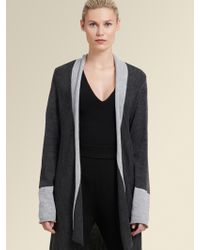 553ae265d9 DKNY - Colorblocked Open-front Cardigan - Lyst