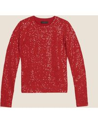 DKNY - Sequin Embellished Crew Neck - Lyst