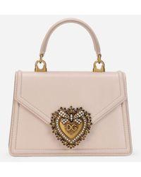 Dolce & Gabbana Small Smooth Calfskin Devotion Bag - Multicolor