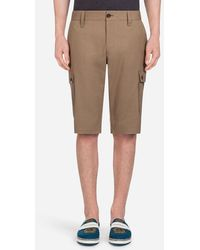 Dolce & Gabbana - Stretch Cotton Bermuda Shorts - Lyst