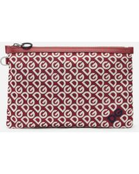 Dolce & Gabbana Clutch With Dg Logo Print - Multicolour