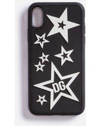 Dolce & Gabbana Coque Pour Iphone X En Caoutchouc Étoiles Mélangées - Noir