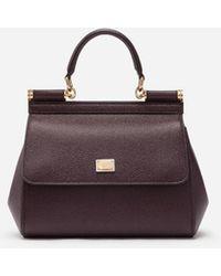 Dolce & Gabbana Small Dauphine Leather Sicily Bag - Morado