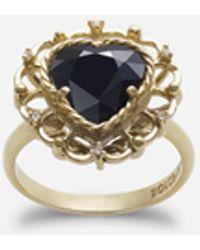 Dolce & Gabbana Heart-shaped Sapphire Ring - Metallic