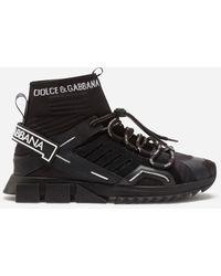 Dolce & Gabbana Sorrento High-Top Trekking Sneakers - Noir