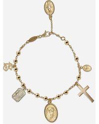 Dolce & Gabbana Armband Sicily Aus Gelb- Und Weissgold - Mettallic