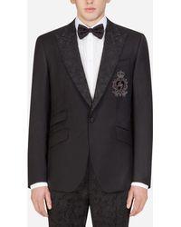 Dolce & Gabbana Sicilia Tuxedo Jacket With Patch - Schwarz