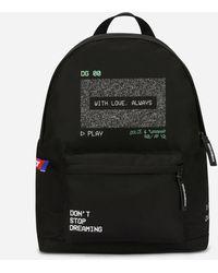 Dolce & Gabbana - Graphic-print Nylon Backpack - Lyst