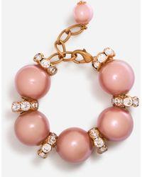 Dolce & Gabbana Armband Mit Dekorativen Elementen Aus Strass Und Harz - Pink