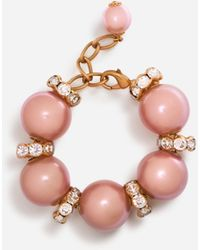 Dolce & Gabbana Bracelet With Rhinestone And Resin Decorative Elements - Pink