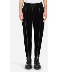 Dolce & Gabbana Velvet Cargo Pants - Nero