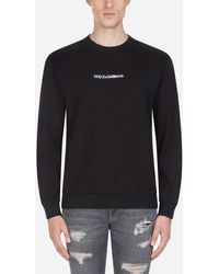 Dolce & Gabbana - Cotton Sweatshirt With Embroidery - Lyst
