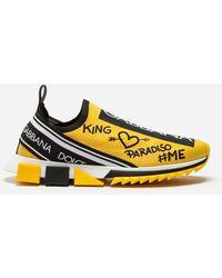 Dolce & Gabbana Sneakers Sorrento Estampado Grafiti - Amarillo