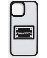 Dolce & Gabbana Rubber Iphone 12 Pro Max Cover With Branded Tag - Black