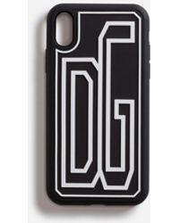 Dolce & Gabbana Coque Iphone Xr En Caoutchouc Dg - Noir