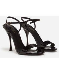 Dolce & Gabbana - Sandalo In Vitello Lucido - Lyst