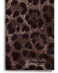 Dolce & Gabbana Silk Leopard Print Scarf - Marrón