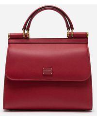 Dolce & Gabbana Kleine Sicily 58 Tasche Aus Kalbsleder - Rot