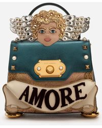 684a79892f Dolce   Gabbana - Medium Welcome Handbag In A Mix Of Materials With 3d Patch  And