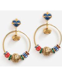 Dolce & Gabbana Seahorse and heart-drop clip on earrings wNMLedg