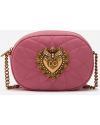 Dolce & Gabbana Minaudière Devotion En Plexiglas - Rose