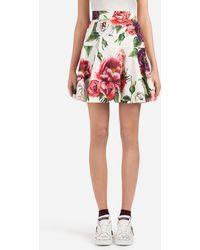 Dolce & Gabbana - Peony-print Brocade Skirt - Lyst