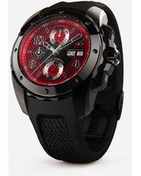 Dolce & Gabbana Ds5 Watch In Steel With Pvd Coating - Schwarz