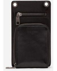 Dolce & Gabbana Horsehide Phone Bag - Black