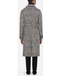 Dolce & Gabbana Glen Plaid Wool Coat - Mehrfarbig