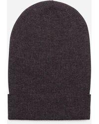 Dolce & Gabbana Silk And Cashmere Hat - Grau