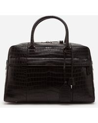 Dolce & Gabbana Crocodile Skin Travel Bag - Schwarz