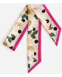 Dolce & Gabbana Twill Headband With Polka Dot And Camellia Print - Multicolour