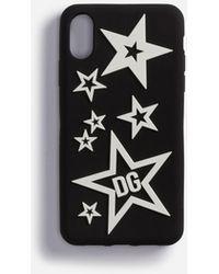 Dolce & Gabbana Cover Iphone Xr Aus Gummi Sternenmix - Schwarz