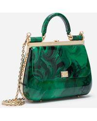 Dolce & Gabbana Sicily Box Bag In Malachite Sint Glass - Grün