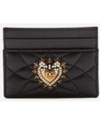 Dolce & Gabbana Porte-Cartes De Crédit Devotion - Noir
