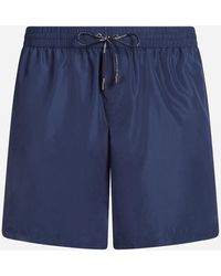 Dolce & Gabbana Mid Swimming Trunks With Pouch Bag - Blue
