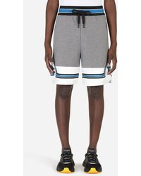Dolce & Gabbana Jersey jogging Shorts With Patch - Gray