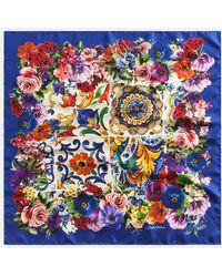 Dolce & Gabbana - Printed Silk Scarf (70 X 70) - Lyst