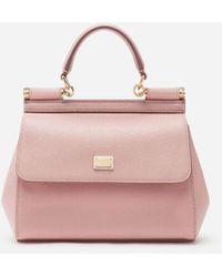 Dolce & Gabbana - Small Sicily Bag In Dauphine Calfskin - Lyst